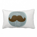 .love DAD. travesseiro