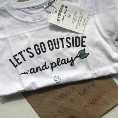.Let's Go Outside. Kids tshirt
