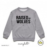 .raised by wolves. kids sweat